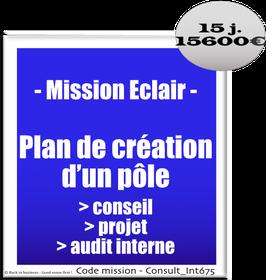 Mission Eclair - 1 - Plan de création d'un pôle conseil / projets / audit interne