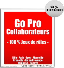 701 - Go Pro Collaborateurs - 100 % Jeux de rôles - 100% Collaborateur - 2 jours