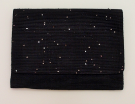 SPARKLE SAKIORI CLUTCH BAG BLACK