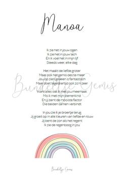 Poster Regenboogkind