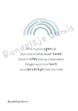 Poster In Alles - Regenboog Broer