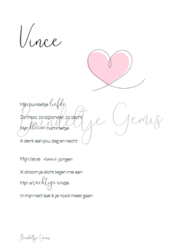 Poster Bundeltje Liefde