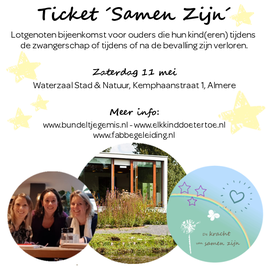 Ticket 'Samen Zijn' Lotgenoten Bijeenkomst Almere