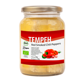 "Tempeh ""Red Smoked Chili Peppers"" im Glas"