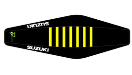 Factory Sitzbankbezug Suzuki Black Top - Black Sides - Yellow Ribs