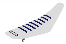 Sitzbankbezug Husqvarna White Top - White Sides - Blue Ribs