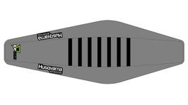 Factory Sitzbankbezug Husqvarna Grey Top - Grey Sides - Black Ribs
