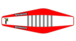 Factory Sitzbankbezug Honda White Top - Red Sides - Grey Ribs