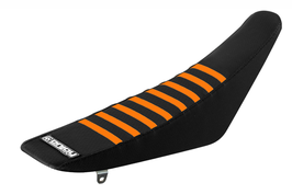 Sitzbankbezug KTM Black Top - Black Sides - Orange Ribs
