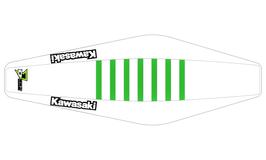 Factory Sitzbankbezug Kawasaki White Top - White Sides - Green Ribs