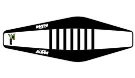Factory Sitzbankbezug KTM White Top - Black Sides - Black Ribs