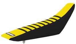 Sitzbankbezug Suzuki Yellow Top - Black Sides - Black Ribs