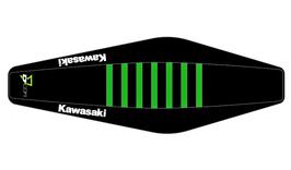 Factory Sitzbankbezug Kawasaki Black Top - Black Sides - Green Ribs