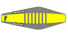 Factory Sitzbankbezug Suzuki Yellow Top - Grey Sides - Grey Ribs