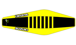 Factory Sitzbankbezug Suzuki Black Top - Yellow Sides - Yellow Ribs