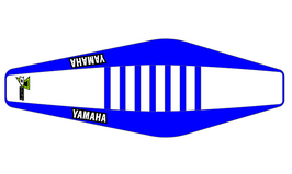 Factory Sitzbankbezug Yamaha White Top - Blue Sides - Blue Ribs