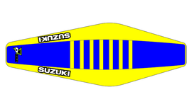 Factory Sitzbankbezug Suzuki Blue Top - Yellow Sides - Yellow Ribs