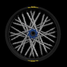 Radsatz Yamaha ► Excel Felge Schwarz | Nabe Blau | Speichen Silber | Nippel Blau