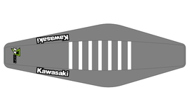 Factory Sitzbankbezug Kawasaki Grey Top - Grey Sides - White Ribs