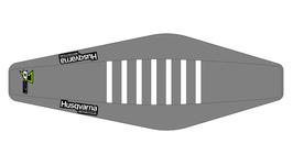 Factory Sitzbankbezug Husqvarna Grey Top - Grey Sides - White Ribs
