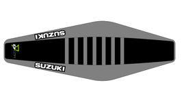 Factory Sitzbankbezug Suzuki Black Top - Grey Sides - Grey Ribs