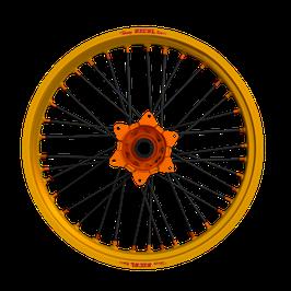 Radsatz Husqvarna ► Excel Felge Gold | Kite Nabe Orange | Speichen Schwarz | Nippel Orange