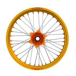 Radsatz Husqvarna ► Excel Felge Gold | Kite Nabe Orange | Speichen Silber | Nippel Orange