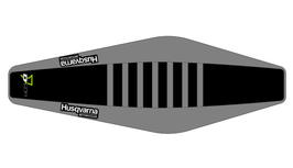 Factory Sitzbankbezug Husqvarna Black Top - Grey Sides - Grey Ribs