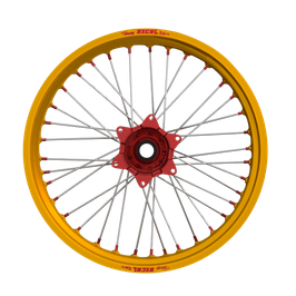 Radsatz Suzuki ► Excel Felge Gold | Kite Nabe Rot | Speichen Silber | Nippel Rot