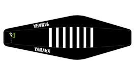 Factory Sitzbankbezug Yamaha Black Top - Black Sides - White Ribs