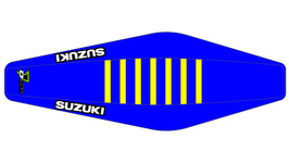 Factory Sitzbankbezug Suzuki Blue Top - Blue Sides - Yellow Ribs