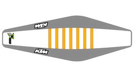 Factory Sitzbankbezug KTM White Top - Grey Sides - Orange Ribs