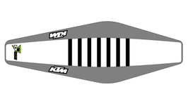 Factory Sitzbankbezug KTM White Top - Grey Sides - Black Ribs