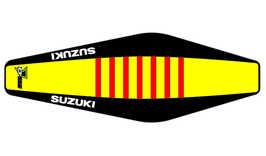 Factory Sitzbankbezug Suzuki Yellow Top - Black Sides - Red Ribs