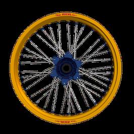 Radsatz KTM ► Excel Felge Gold | Kite Nabe Blau | Speichen Silber | Nippel Blau