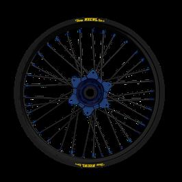 Radsatz KTM ► Excel Felge Schwarz | Kite Nabe Blau | Speichen Schwarz | Nippel Blau