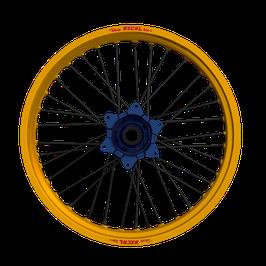 Radsatz Kawasaki ► Excel Felge Gold | Kite Nabe Blau | Speichen Schwarz | Nippel Blau