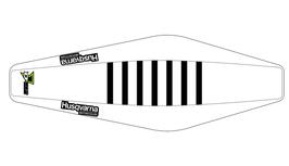 Factory Sitzbankbezug Husqvarna White Top - White Sides - Black Ribs