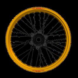 Radsatz Honda ► Excel Felge Gold   Kite Nabe Schwarz   Speichen Schwarz   Nippel Schwarz