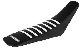 Sitzbankbezug Yamaha Black Top - Black Sides - White Ribs