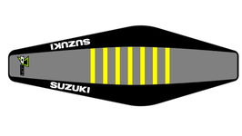 Factory Sitzbankbezug Suzuki Grey Top - Black Sides - Yellow Ribs