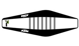 Factory Sitzbankbezug KTM White Top - Black Sides - Grey Ribs