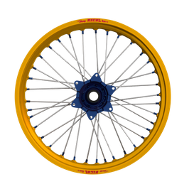 Radsatz Kawasaki ► Excel Felge Gold | Kite Nabe Blau | Speichen Silber | Nippel Blau