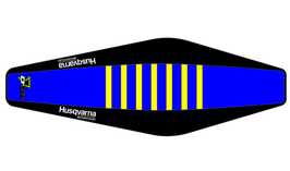 Factory Sitzbankbezug Husqvarna Blue Top - Black Sides - Yellow Ribs