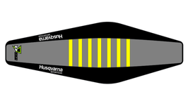 Factory Sitzbankbezug Husqvarna Grey Top - Black Sides - Yellow Ribs