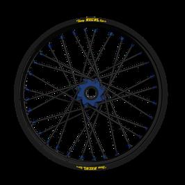 Radsatz Yamaha ► Excel Felge Schwarz | Nabe Blau | Speichen Schwarz | Nippel Blau