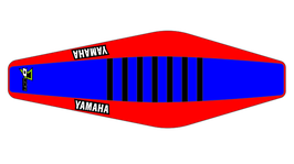 Factory Sitzbankbezug Yamaha Blue Top - Red Sides - Black Ribs