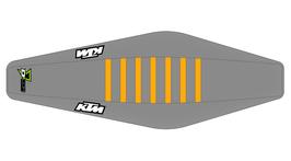 Factory Sitzbankbezug KTM Grey Top - Grey Sides - Orange Ribs