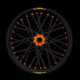Radsatz KTM ► Excel Felge Schwarz | Nabe Orange | Speichen Schwarz | Nippel Orange