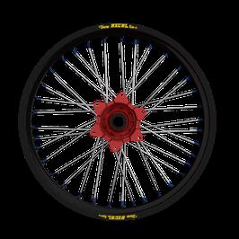Radsatz Yamaha ► Excel Felge Schwarz | Kite Nabe Rot | Speichen Silber | Nippel Blau